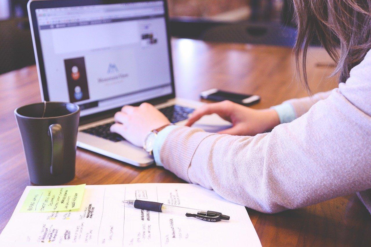 Un employé qui consulte son BSI en ligne