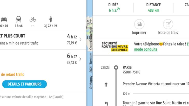 Itinéraire Mappy sans péage: comment le calculer pour ses vacances?